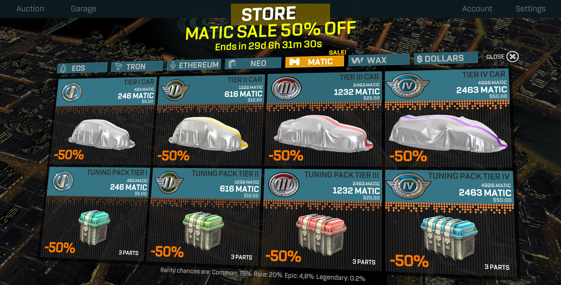 0xRacers Matic SALE